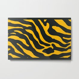Tiger Skin Pattern Selective Yellow Metal Print