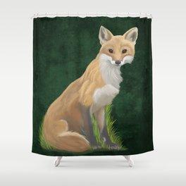 Playful Red Fox Shower Curtain