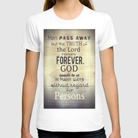 scripture T-shirts featuring Imitation of Christ: Book 1 Chapter 5 Reading the Holy Scripture by Kahligraphy