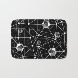 Black and White Geometric Shape Constellation Dream Bath Mat