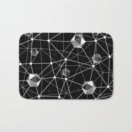 Black and White Geometric Shape Constellation Dream Bath Mat