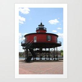 Seven Foot Knoll Lighthouse Art Print