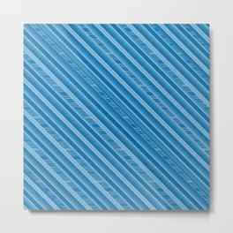blue bleu 4 lignes Metal Print