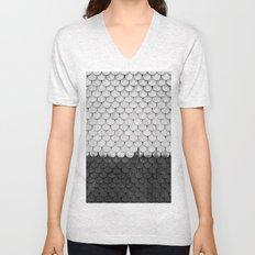 SHELTER / white and black Unisex V-Neck