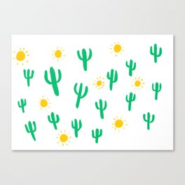 Suns and Cacti Canvas Print