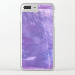 Ube abstract watercolor Clear iPhone Case