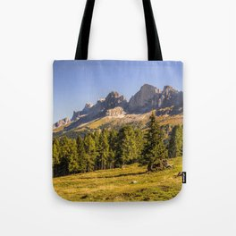 Panoramic view in the Dolomites Tote Bag