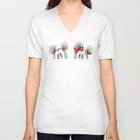 minnie mouse V-neck T-shirts featuring Mickey and Minnie Mouse.  by Christa Morgan ☽