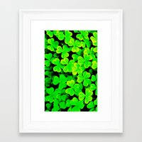 clover Framed Art Prints featuring CLOVER by Ylenia Pizzetti
