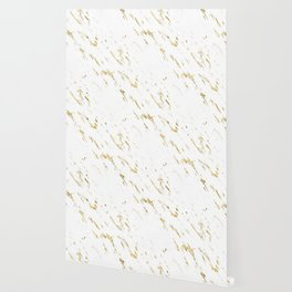 Gold White Marble - Trendy Yellow Gold Marble Wallpaper