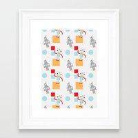 robots Framed Art Prints featuring Robots by Samantha Eynon