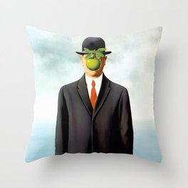 Rene Magritte The Son of Man, 1964 Artwork, Tshirts, Posters, Prints, Bags, Men, Women, Youth Throw Pillow