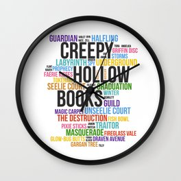 Violet's Story - Multicolor Wall Clock