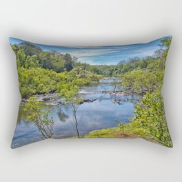 Idyllic River View Rectangular Pillow