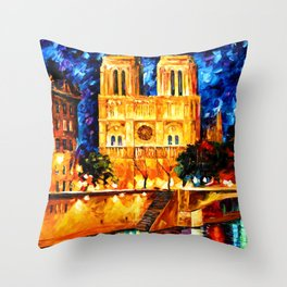 Starry Art Clock Night Throw Pillow