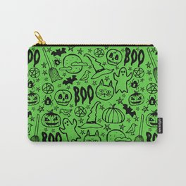Spooky Pattern - Lime Green Carry-All Pouch