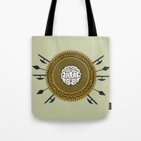 shield Tote Bags featuring Shield  by Daniac Design