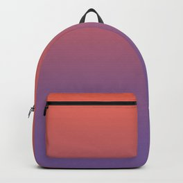Pantone Living Coral & Chive Blossom Purple Gradient Ombre Blend, Soft Horizontal Line Backpack