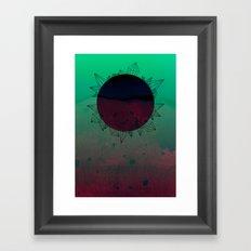 crystal sunrise Framed Art Print