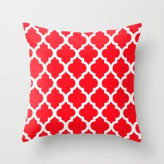 Moroccan Red II Throw Pillow