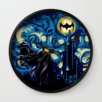 van Wall Clocks featuring Starry Knight iPhone 4 4s 5 5c 6, pillow case, mugs and tshirt by Three Second