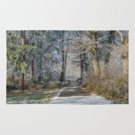 Enchanted Winter Forest Rug