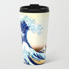 The Great Wave off Kanagawa Metal Travel Mug