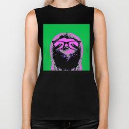 Warhol Sloth (4) Biker Tank
