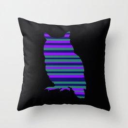 Owl Stripes Throw Pillow