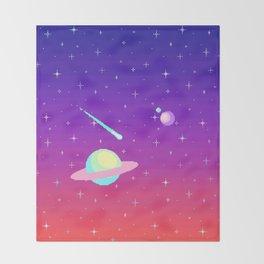 Pixelated Galaxy Throw Blanket