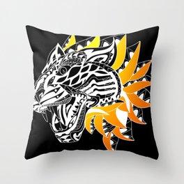 Golden Tiger Ecopop Throw Pillow