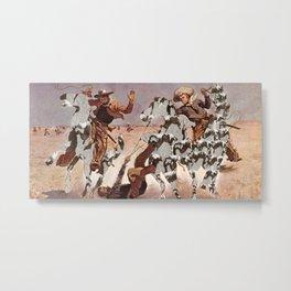 American Pastimes (Collage) Metal Print