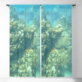 Watercolor Seascape, St John 88, USVI Blackout Curtain