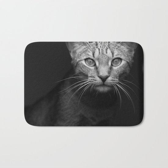 cat katz black white 4 Bath Mat