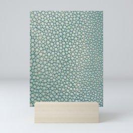 Green Shagreen Stingray Simulated Skin Mini Art Print