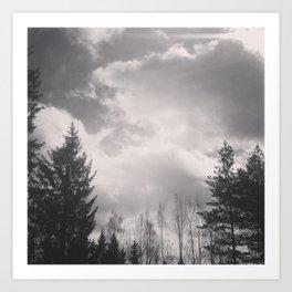 Cloudy Art Print