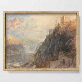 "J.M.W. Turner ""Rheinfels Looking to Katz and Gourhausen"" Serving Tray"
