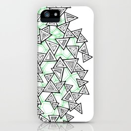 Triangles and Tessellation iPhone Case