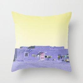 Moroccan Dar in Purple Throw Pillow
