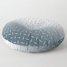 Diamond Plate Metal Pattern Floor Pillow