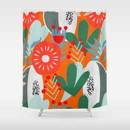 Cacti, fruits and flowers Shower Curtain