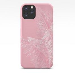 Millennial Pink illumination of Heart White Tropical Palm Hawaii iPhone Case