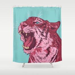 Magenta tiger Shower Curtain