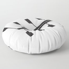 Rowing & Music notes 9 Floor Pillow