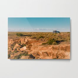 Airstream Trailer camping at Petrified Forest National Park Metal Print