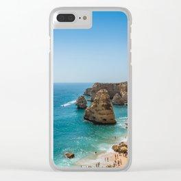 Beach at Lagoa, Algarve, Portugal Clear iPhone Case