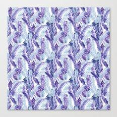 Fern Palm Purple Canvas Print