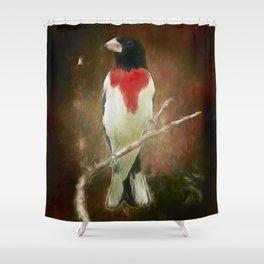 Artistic Grosbeak Shower Curtain