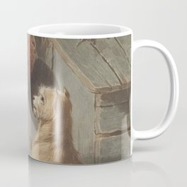 Conradijn Cunaeus - Two dogs in front of a doghouse (1838 - 1895) Coffee Mug