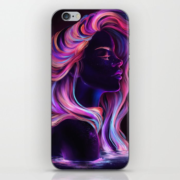 Blacklight Babe iPhone Skin